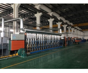 Gas heating continuous induction furnace/mesh belt furnace
