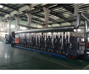 Gas heating mesh belt furnace