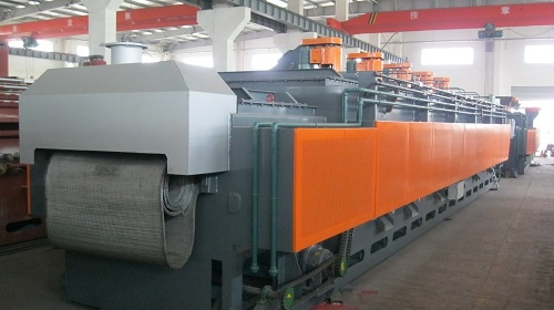 Mesh Belt Type Heat Treatment Furnace Gas Heating